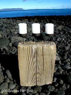 DIY: Candle Holder from Driftwood