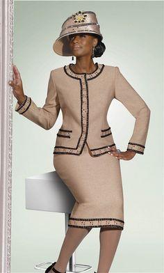 Church Suits – Elegant Church Style for Women women's church suits and hats Church Suits And Hats, Church Attire, Women Church Suits, Church Dresses, Church Outfits, Suits For Women, Church Hats, Women Hats, Moda Formal