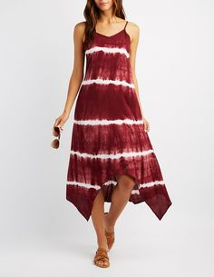 Tie Dye Sharkbite Hem Dress | Charlotte Russe