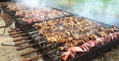 Souvla - Traditional Cyprus BBQ of lamb or pork cooked over a bed of charcoal. Yum!