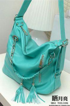 Generic Fashion Womens Hobo Bag PU Leather Handbag Shoulder Bag Blue *** Learn more by visiting the image link.