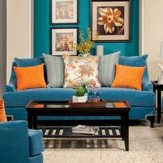 Furniture of America Estella Retro Peacock Blue Sofa - Overstock™ Shopping - Great Deals on Furniture of America Sofas & Loveseats