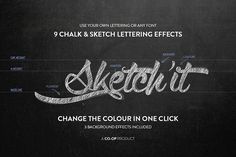 Sketch'it - Chalk and Sketch effects by Co-op Goods Co on @creativemarket