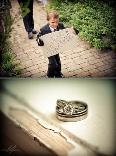 Ring Bearer and Rings. Bh Photography