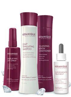 Keranique hair products & hair growth vitamins