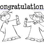 This coloring page is perfect for graduation Preschool and Kindergarten students. The pdf features artwork by KPM Doodles and displays a boy and gi...