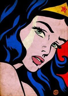 Pop art of wonder woman by roy lichtenstein comic books and artwork lichten Art And Illustration, Comic Kunst, Comic Art, Comic Books, Comic Book Girl, Comic Poster, Comic Book Heroes, Marvel Heroes, Posters Vintage