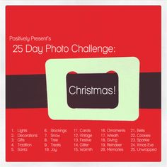 Christmas Photo Challenge - a great source for beginners to December Daily (like me!) #JessicaSpragueHoliday