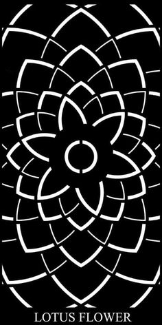 The Lotus Flower Decorative Garden Screen is a beautiful geometric, modern pattern that possesses a traditional character and flair. Laser Cut Patterns, Stencil Patterns, Stencil Art, Stenciling, Laser Cut Screens, Laser Cut Panels, Screen Design, Gate Design, Metal Garden Gates