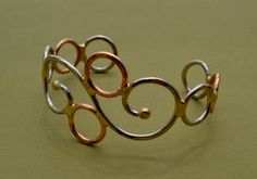 Swirly Metal Cuff Bracelet by skydesign on Etsy