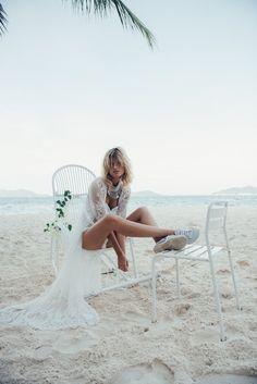 See-through Embroidered Sexy Beach Bikini Cover-Ups Hey Little Sister, Spell Byron Bay, Spell Designs, Boho Wedding Dress, Wedding Gowns, Bikini Beach, Gypsy Style, One Piece Swimwear, Love And Marriage