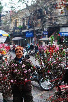 Flower Lady, Hanoi, Vietnam