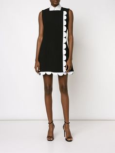Victoria Victoria Beckham scalloped flared dress