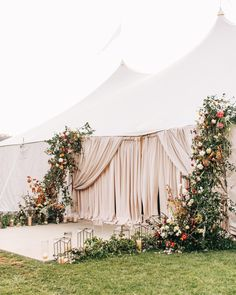15 Magical Tent Decor Ideas for an Outdoor Wedding – Green Wedding Shoes 15 Magical Tent Decor Ideas for an Outdoor Wedding floral wedding tent entrance Outdoor Tent Wedding, Wedding Reception Entrance, Tent Reception, Outdoor Wedding Decorations, Wedding Centerpieces, Wedding Ceremony, Outdoor Weddings, Wedding Marquee Decoration, Wedding Receptions