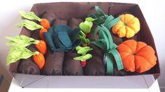 jardin potager tout en feutrine : Jeux, jouets par couture-deb Plus