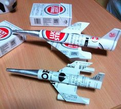 Cigarette Packs Turned into Fighter Jets, Feel the Need for Speed…and Nicotine
