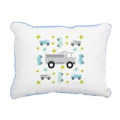 Gray Truck & Stars Rectangular Canvas Pillow> Trucks & Stars - Gray> DrapeStudio - FUN Gray Trucks & Stars design - see all products with this design in our shops www.cafepress.com/drapestudio and www.zazzle.com/drapestudio and www.society6.com/drapestudio and www.etsy.com/shop/drapestudio  AND for FABRIC by the yard www.spoonfloer.com/profiles/drapestudo OR visit our main site www.drapestudio.com AND Thanks for sharing our site with your friends!