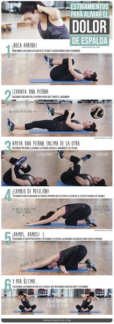 Fitness ejercicios espalda 47 Ideas for 2019 Yoga Fitness, Health Fitness, Motivation Yoga, Estilo Fitness, Pilates Video, Gym Time, Excercise, Back Pain, Yoga Poses