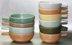 Retro Australian Pottery 10 Harlequin Ramekins Guy Boyd Raynham & Ray Cook