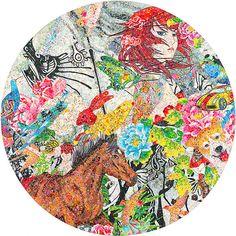 ART LEXÏNG | Ye Hongxing - Crystal sticker collage on