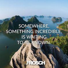 """Somewhere, something incredible, is waiting to be known.""—Carl Sagan"