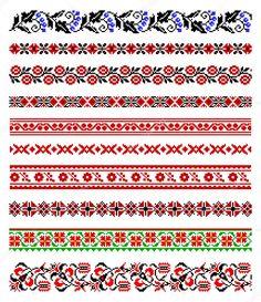 Скачати - Орнаментів української вишивки — стокова ілюстрація #4807086