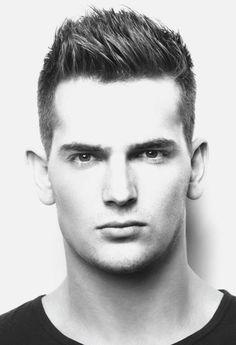 Men's summer short, disconnected hair.