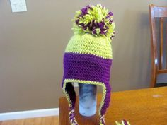 Homemade pom pom hat. So cute! only $10!