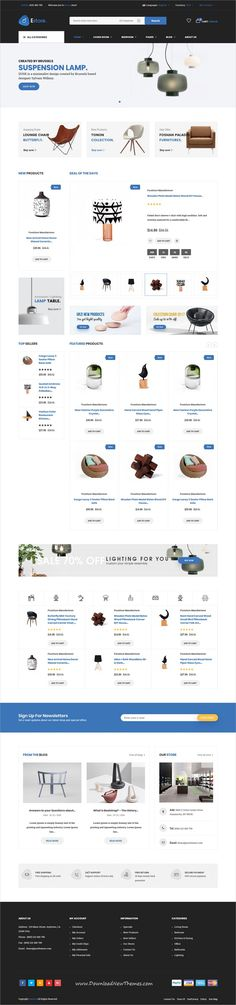 Estore is clean and modern design 4in1 responsive HTML bootstrap #theme for minimal #eCommerce #store website to live preview & download click on image or Visit #websitedesign