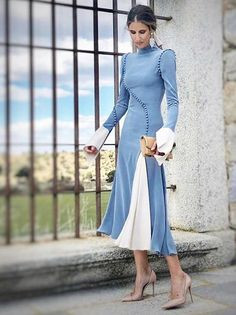 Couture Dresses, Fashion Dresses, Color Blocking Outfits, Victorian Costume, Travel Dress, Russian Fashion, Formal Looks, Dressy Dresses, Everyday Dresses