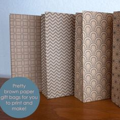 Patterned Paper Bags to Print from Next to Nicx featured at printabledecor.net #crafts #printables #giftwrap