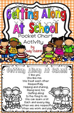 Start each day with Getting Along at School to help remind your students how important it is to be kind and helpful to everyone they meet each and every day. I have included all words and pictures you'll need. Just print and cut and your pocket chart activity is ready to use. Even though this is a FREEBIE, I hope you will take the time to leave feedback to let me know what you think!  #kindnessnation #weholdthesetruths