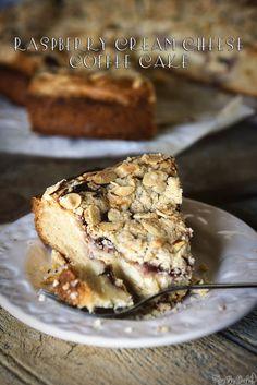 Raspberry Cream Cheese Coffee Cake \\ PasstheSushi.com