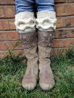 Hand Knitted Cable Boot Cuffs. Knit Chains. 44 Colors. Leg Warmers. Boot Toppers. Fashion Fall Autumn Winter Accessory for Women and Teens. by VividBear on Etsy