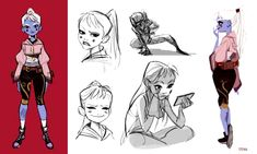 It was a personal challenge that I set for myself to get the essence of the character while still maintaining appeal. The original design is by TB Choi who continually makes amazing character designs that inspire Character Design Teen, Character Design Sketches, Character Design Tutorial, Character Design Inspiration, Character Art, Character Ideas, Style Inspiration, Girls Characters, Female Characters