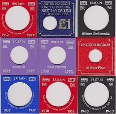 #Sandhill type individual coin #display cards - #general,  View more on the LINK: http://www.zeppy.io/product/gb/2/130984759112/