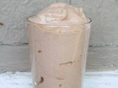 Skinny shake, 3/4 c almond milk, approximately 15 ice cubes, 1/2 tsp vanilla extract,1-2 Tbsp unsweetened cocoa powder, 1/3 banana. Supposed to taste like a Frosty.