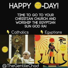 """Sun worship= SATAN worship:Roots> Set (Seth, Seth, Shaitan, Molech, Satur Setekh, Sut, Sutekh, Sety) was one of those occultic Egyptian gods. Set,which is where we get the modern word for who Westerners call """"Satan or the Devil."""" Set is the SO BELOW of the planet on the AS ABOVE (ILLUMINATI's/FREEMASONS' PHRASE!)called Saturn. Hence, the gods Set, Satan, the Devil and Saturn are all one and the same.Set represents the power of evil and is the Lord of Hell, who we simply call Shaitan or…"""