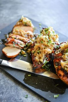 This recipe for Smothered BBQ Chicken Breasts has both a grill and oven method. Just a few simple ingredients and you will have a great meal!