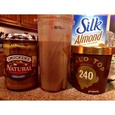 Post LISS dessert Halo Top protein ice cream with a little scoop of all natural…