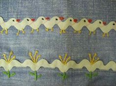Embroidery on rick rack