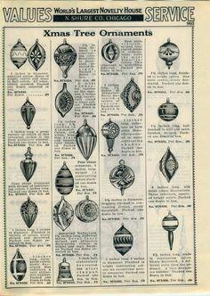 1932 Ad 2 PG Ornaments Christmas Bird Reflector Parasol Striped Bell Tree Top | eBay