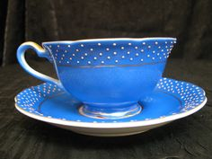 Merit Occupied Japan Tea Cup | Merit Cobalt Blue Tea Cup and Saucer Set c.1945-1952 (made in Occupied ...
