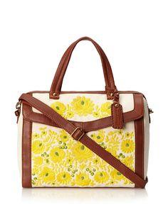 "Isabella Fiore Womens Lux Linen Floral Print Satchel, 159$ from 325$, * 1 exterior pocket, 1 zip and 2 slip interior pockets, optional adjustable strap, 5.5"" handle drop  Natural, http://www.myhabit.com/redirect?url=http%3A%2F%2Fwww.myhabit.com%2F%3F%23page%3Dd%26dept%3Dwomen%26sale%3DA3HK7DU37H5VC1%26asin%3DB009HQ309G%26cAsin%3DB009HQ309G"