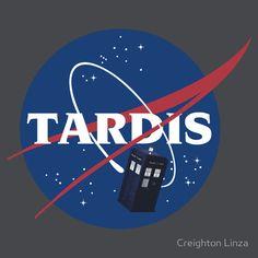 Geek Gear: Doctor Who 'Tardis Space Program' Shirt - Geeks of Doom Doctor Who Tardis, Die Tardis, Doctor Who Gifts, Geek Gear, Space Program, Torchwood, Bad Wolf, Blue Box, Geek Out