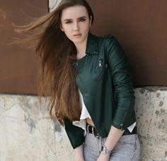 leather jacket street fashion - Google Search