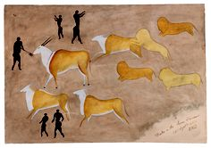 and great herds of antelope leap where the flames draw them orange and flickering upon the red glowing stone. Xhosa, Popular Bags, Sailor, Orange, Moose Art, War, Pictures, Animals, Stone