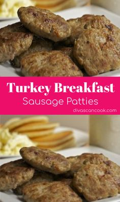 Turkey Breakfast Sausage Patties Recipe - Easy & Flavorful - - My family loves this recipe. Homemade turkey breakfast sausage is easy to make. Just ground turkey and spices! These patties cook up juicy and full of flavor. Breakfast Sausage Seasoning, Homemade Breakfast Sausage, Chicken Breakfast, Recipe For Turkey Breakfast Sausage, Best Turkey Sausage Recipe, Breakfast Slider, Breakfast Menu, Breakfast Burritos, Breakfast Ideas