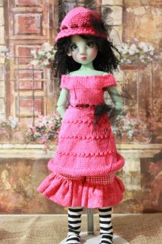 Handcrafted 3pc Knit Outfit for Kaye Wiggs Dollstown 7yrs Liz Frost MSD BJD'S | eBay