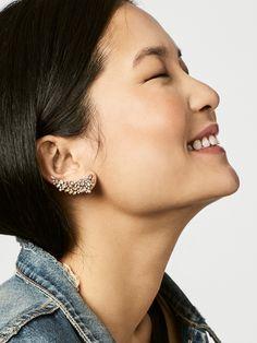 Statement Star Dangle Earrings- Star Jewelry/ Gold Star/ Starburst Drops/ Celestial Jewelry/ Astrology/ Sunburst/ Starlight/ Gifts for Her - Fine Jewelry Ideas Small Gold Hoop Earrings, Gold Bar Earrings, Crystal Earrings, Diamond Earrings, Stud Earrings, Givenchy, Gucci, Star Jewelry, Fine Jewelry